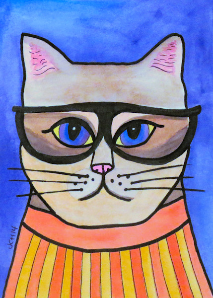Cat Art by Groovy Gal Designs