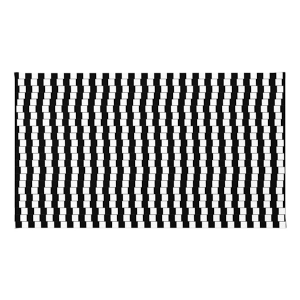 Offset Black And White Lines Throw Rugs