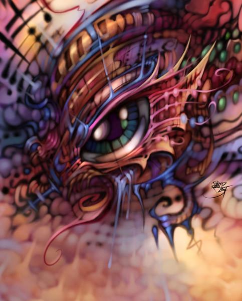 Eyes - Paintings and illustrations of eyes as fantasy art by David Bollt