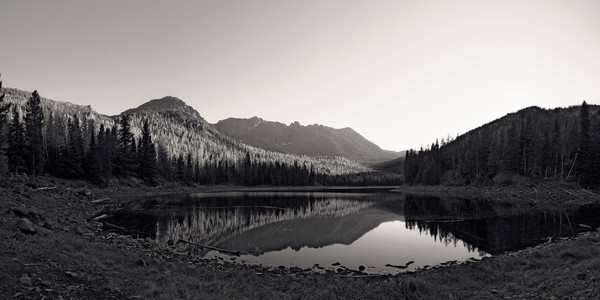 Evening at Strawberry Lake in Black & White