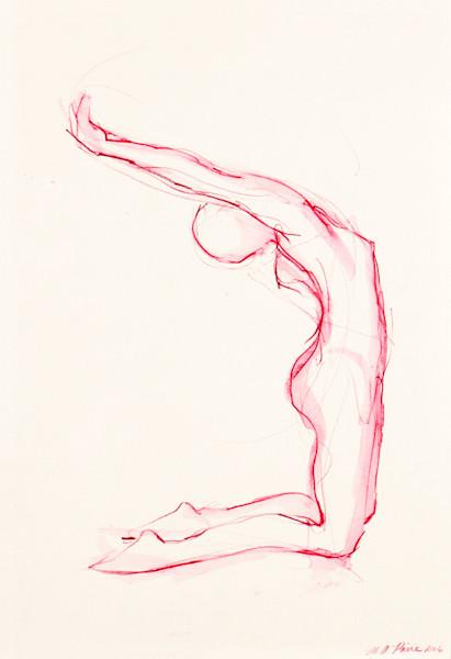Original Framed Pink Figure Painting