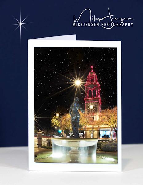 christmas fountain