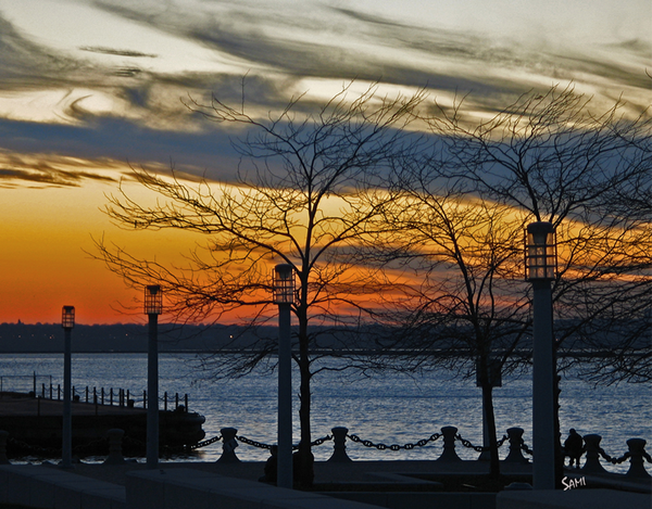 Cleveland Sunset - Ohio photograph art for sale