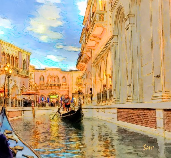 Vegas Venetian - Nevada art painting for sale