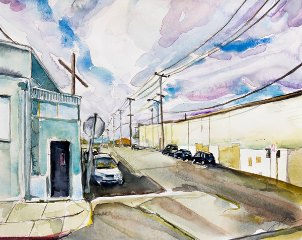 West Oakland Warehouses Fine Art Print