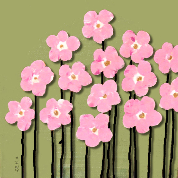 Little Pink Flowers Art For Sale