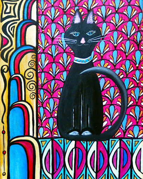 The Great Catsby Cat Art For Sale