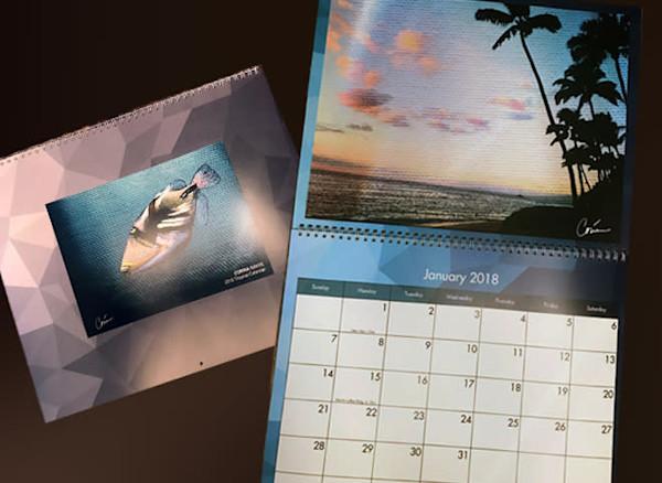 2018-tropical-calendars, art-calendar, tropical-art, calendar, hand-signed-by-the-artist-corina-bakke, corina-gallery,