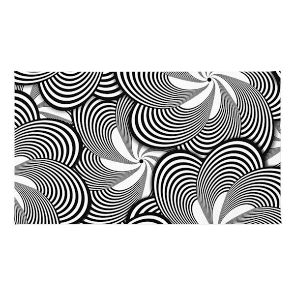 Black and White Flower Pattern Accent Rugs