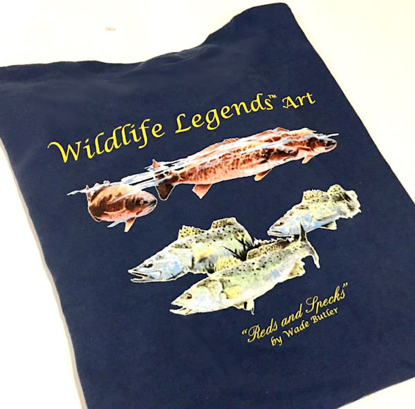 "Wildlife Legends Art-""Reds and Specks"" T-shirt"
