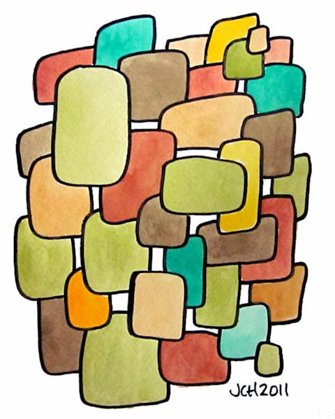 Desert Modern Watercolor Art For Sale