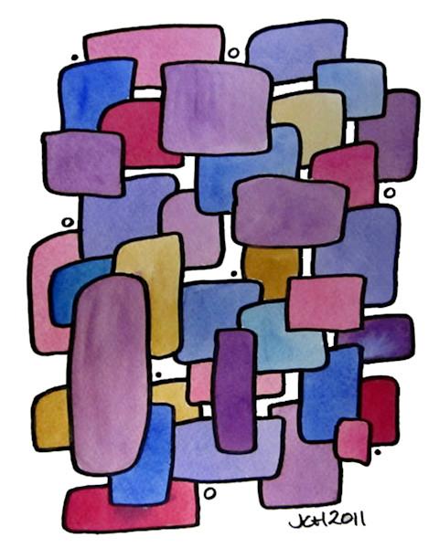 Jewels Modern Watercolor Art For Sale