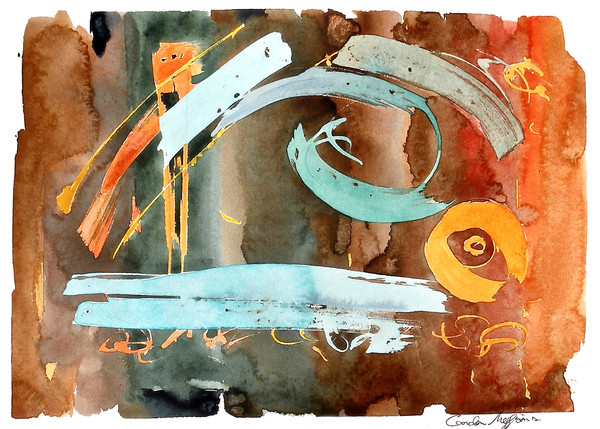 Saturation and Simplicity | Contemporary Abstract Watercolors | Gordon Meggison IV
