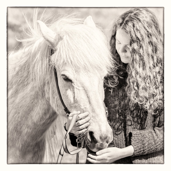 Portrait of Karoline, sepia -  Skálakot Farm, Iceland 2015