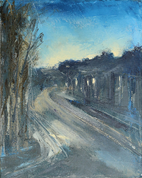 Road at Dusk Oil Painting