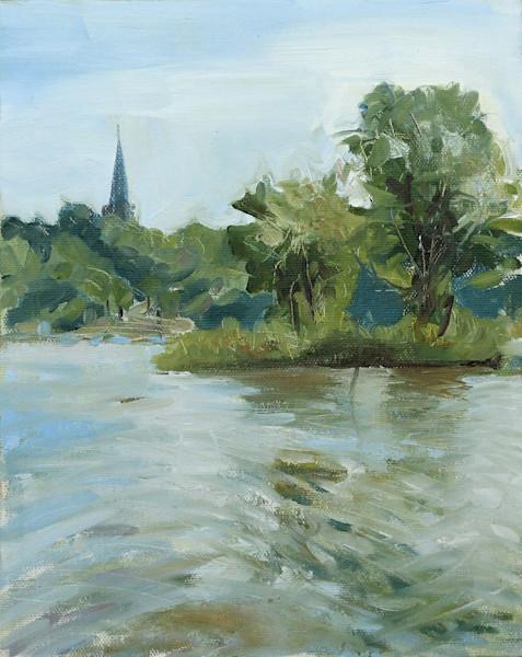 Original Maumee River Landscape Painting