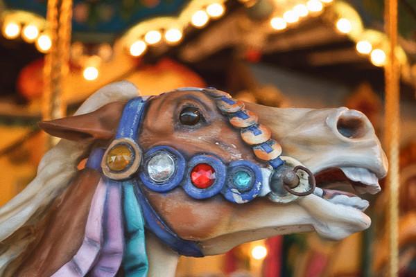 Carousel Horse Flaxen #3 - Barefoot Landing, South Carolina 2015