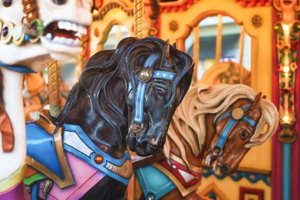 Carousel Horses Trio #1 - Barefoot Landing, South Carolina 2015
