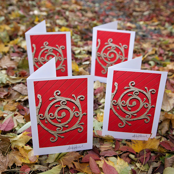 Set of Four Red Door Notecards