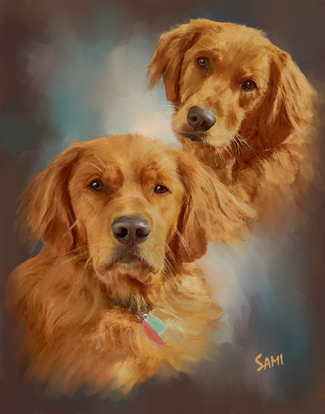 Golden Friends Art for Sale