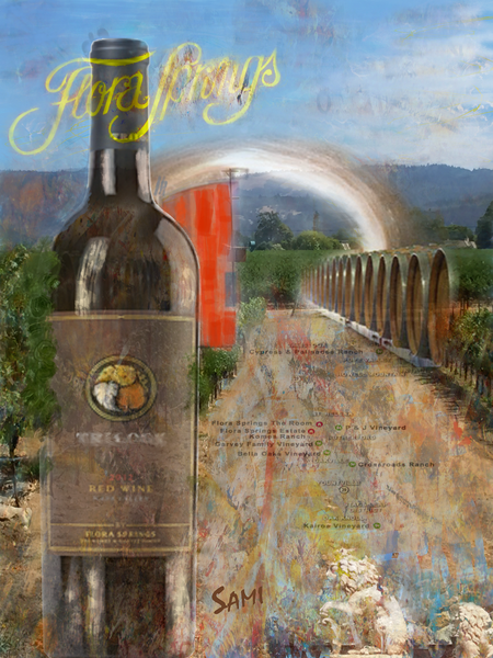 Napa Valley Winery art painting for sale