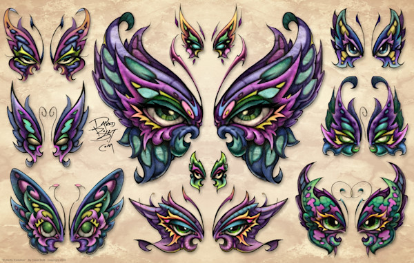 Butterfly Evolution - World famous butterfly tattoo designs by David Bollt