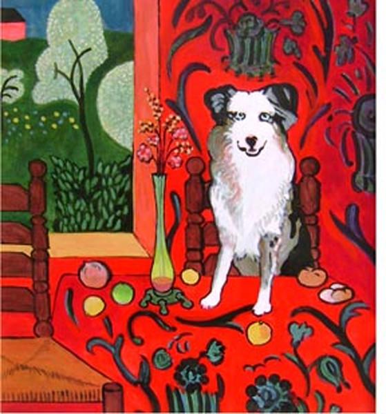 Matisse style dog portrait