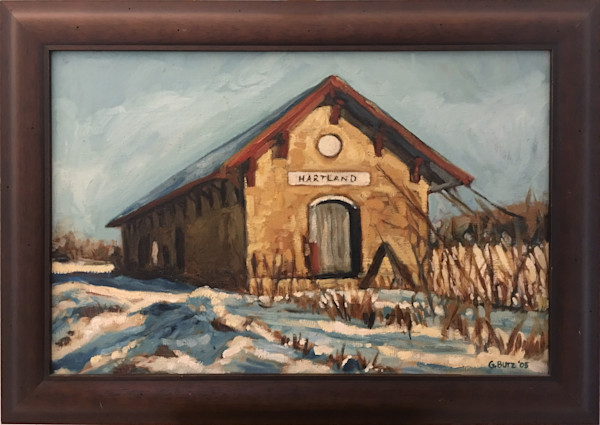 Hartland Depot Original Oil Painting