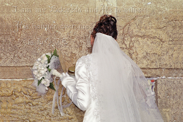 """Bride At The Wall"" by Constance Woods 