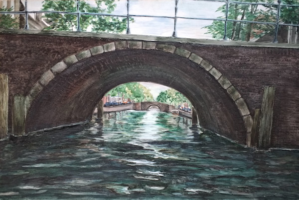"""Canals Of Amsterdam"" by Jennifer Sowders 