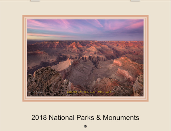 2018 U.S. National Park & Monument Fine Art Photo Calendar