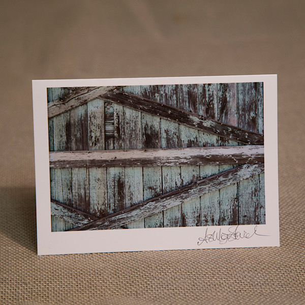 One Turquoise Barnwood Notecard