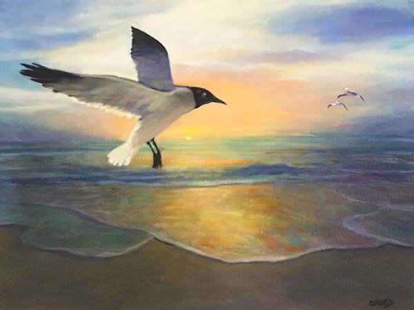 Sea Gulls At Dawns 300