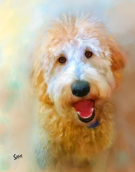 Obie the Goldendoodle Art for Sale
