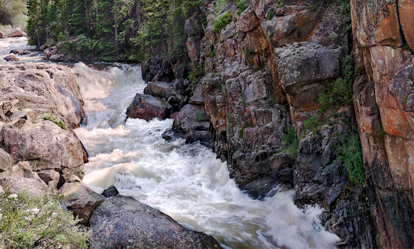 Poudre Canyon rapids Colorado photograph