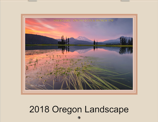 2018 Oregon Fine Art Photo Landscape Calendar