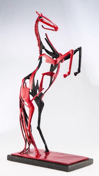 Red Stallion Sculpture   Southwest Art   Tucson Art Gallery