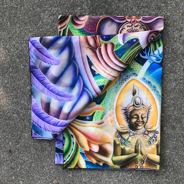 Once I Meta Swan - Visionary Art Tapestry | Ishka Lha