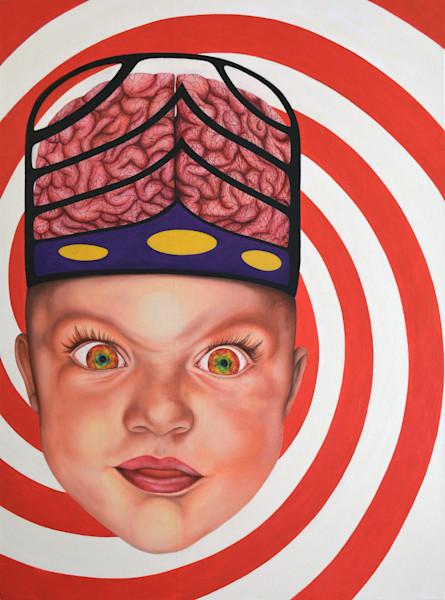 Shop Raquel Fornasaro HypnoBaby Contemporary Original Fine Art Oil Portrait on Canvas