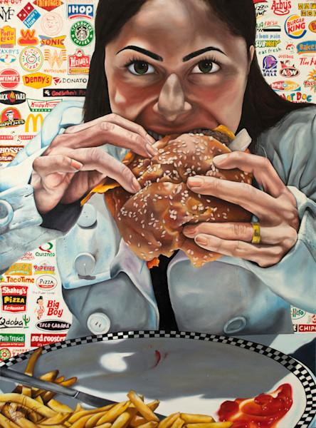 Shop Raquel Fornasaro Savage Capitalism Contemporary Original Fine Art Oil Portrait on Canvas