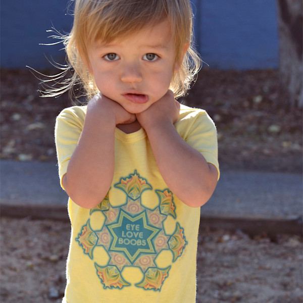 Eye Love Boobs - Organic Baby Snappie by Ishka Lha
