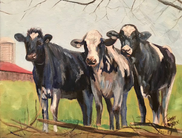 Girls Watching by Cathy Groulx | SavvyArt Market original art
