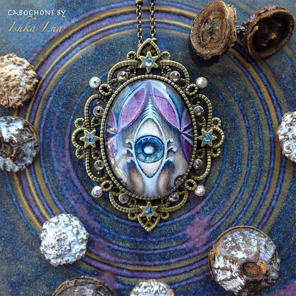 Pearl of Wisdom - Visionary Art Jewelry by Ishka Lha