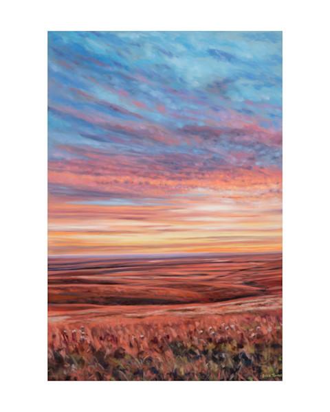 Flint Hills VII Oil Painting