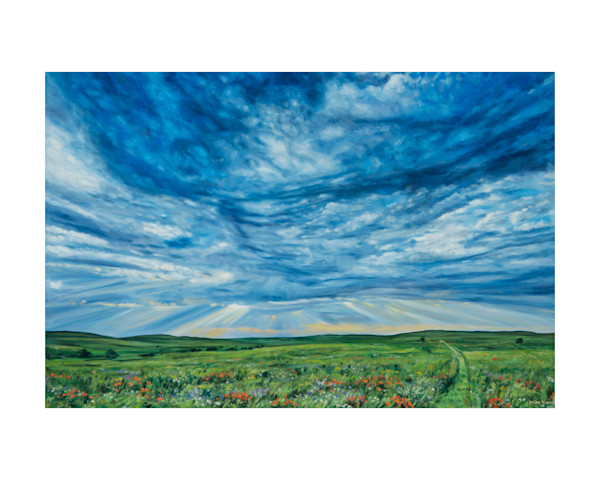 Flint Hills VI Oil Painting
