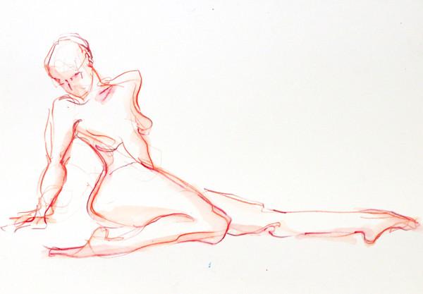 Watercolor Figure Painting. Original Art by Michelle Arnold Paine