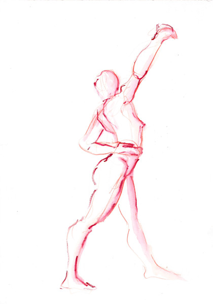 Watercolor Figure Painting. Dance Art by Michelle Arnold Paine