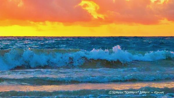 Lots of colors. colors around dawn, Robert Abbett Art! water and colors, Ocean Art!
