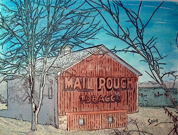 Mail Pouch Barn - Ohio Watercolor Print art for sale