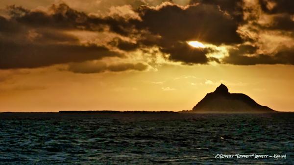 Moku Nui - the Larger of the two Na Mokulua Islands (Islets) just off the coast of Kailua Bay and the Lanikai neighborhood.